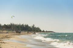 Άνθρωποι στην παραλία Αβάνα της Σάντα Μαρία Στοκ εικόνες με δικαίωμα ελεύθερης χρήσης