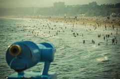 Άνθρωποι στην παραλία Καλιφόρνια της Βενετίας Στοκ φωτογραφία με δικαίωμα ελεύθερης χρήσης