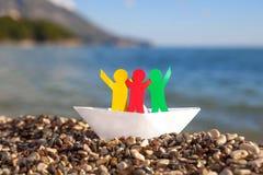 Άνθρωποι στη βάρκα Στοκ φωτογραφία με δικαίωμα ελεύθερης χρήσης