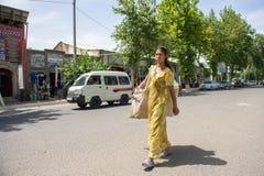 Άνθρωποι στη ΜΠΟΥΧΑΡΑ, ΟΥΖΜΠΕΚΙΣΤΑΝ στοκ φωτογραφία