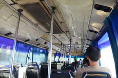 Άνθρωποι στις μεταφορές λεωφορείων στην Ταϊλάνδη Στοκ εικόνες με δικαίωμα ελεύθερης χρήσης