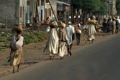 Άνθρωποι στις οδούς της Αιθιοπίας Στοκ φωτογραφίες με δικαίωμα ελεύθερης χρήσης