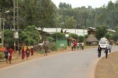 Άνθρωποι στις οδούς της Αιθιοπίας Στοκ Εικόνες
