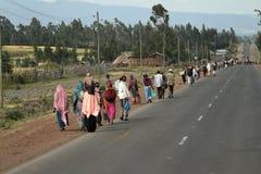Άνθρωποι στις οδούς της Αιθιοπίας Στοκ εικόνες με δικαίωμα ελεύθερης χρήσης