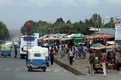 Άνθρωποι στις οδούς της Αιθιοπίας Στοκ Φωτογραφία