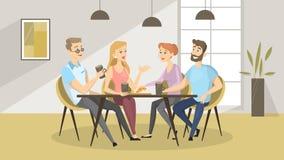 Άνθρωποι στον καφέ διανυσματική απεικόνιση