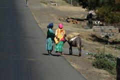 Άνθρωποι στους δρόμους της Αιθιοπίας στην Αφρική Στοκ φωτογραφίες με δικαίωμα ελεύθερης χρήσης