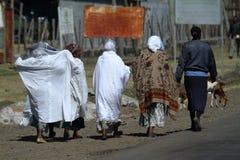 Άνθρωποι στους δρόμους της Αιθιοπίας στην Αφρική Στοκ Φωτογραφίες