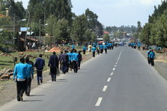 Άνθρωποι στους δρόμους της Αιθιοπίας στην Αφρική Στοκ εικόνες με δικαίωμα ελεύθερης χρήσης