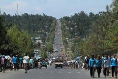 Άνθρωποι στους δρόμους της Αιθιοπίας στην Αφρική Στοκ Φωτογραφία