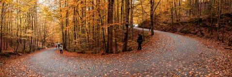 Άνθρωποι στο εθνικό πάρκο Yedigoller Στοκ Εικόνες