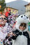 Άνθρωποι στο καρναβάλι Tesserete στην Ελβετία Στοκ Εικόνες