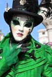 Άνθρωποι στο κοστούμι πολυτέλειας στη Βενετία, Ιταλία ` FEB 13 Στοκ Εικόνες