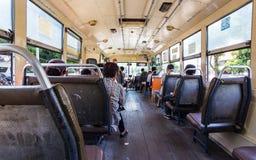 Άνθρωποι στο λεωφορείο στη Μπανγκόκ, Thiland Στοκ Φωτογραφίες