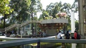 Άνθρωποι στο πάρκο σε Saigon, Βιετνάμ απόθεμα βίντεο
