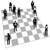 Άνθρωποι στο σκάκι Στοκ Φωτογραφίες