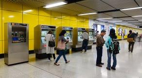 Άνθρωποι στο σταθμό μετρό στο Χονγκ Κονγκ Στοκ Εικόνα