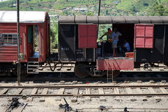 Άνθρωποι στο τραίνο στοκ φωτογραφία