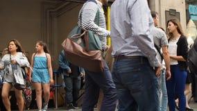 Άνθρωποι στο τσίρκο της Οξφόρδης απόθεμα βίντεο