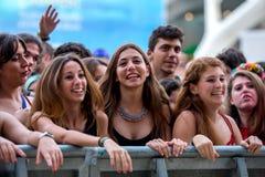 Άνθρωποι στο φεστιβάλ de les Arts Στοκ εικόνα με δικαίωμα ελεύθερης χρήσης