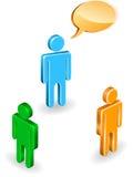 άνθρωποι συζήτησης Στοκ Εικόνα