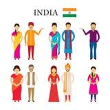 Άνθρωποι της Ινδίας στον παραδοσιακό ιματισμό Στοκ φωτογραφίες με δικαίωμα ελεύθερης χρήσης