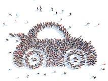Άνθρωποι υπό μορφή αυτοκινήτου Στοκ Φωτογραφίες