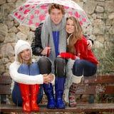 άνθρωποι φθινοπώρου Στοκ Εικόνες