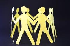 Άνθρωποι χέρι-χέρι Στοκ εικόνες με δικαίωμα ελεύθερης χρήσης