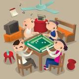 Άνθρωποι Χονγκ Κονγκ που παίζουν το παιχνίδι Mahjong ελεύθερη απεικόνιση δικαιώματος