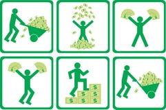 άνθρωποι χρημάτων ελεύθερη απεικόνιση δικαιώματος