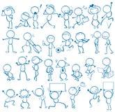 Άνθρωποι Doodles Στοκ εικόνες με δικαίωμα ελεύθερης χρήσης