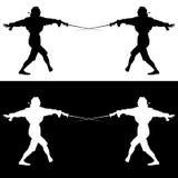 Άνθρωποι Dueling Στοκ φωτογραφία με δικαίωμα ελεύθερης χρήσης