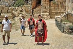 Άνθρωποι gladiators ιματισμού στοκ φωτογραφίες με δικαίωμα ελεύθερης χρήσης