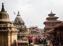Άνθρωποι Nepali που θέτουν για τις φωτογραφίες Στοκ Εικόνες