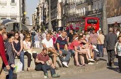 Άνθρωποι Puerta del Sol στη Μαδρίτη, Ισπανία Στοκ εικόνες με δικαίωμα ελεύθερης χρήσης