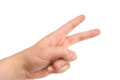 άνθρωπος δύο δάχτυλων στοκ εικόνα με δικαίωμα ελεύθερης χρήσης