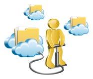 Άνθρωπος και σύννεφα Στοκ φωτογραφία με δικαίωμα ελεύθερης χρήσης