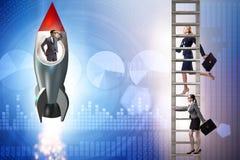 Άνιση έννοια ευκαιριών σταδιοδρομίας για τους άνδρες και τις γυναίκες στοκ φωτογραφία