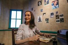 Άννα Φρανκ, η κυρία Tussauds Στοκ Φωτογραφίες
