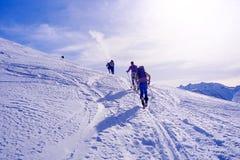 άνοδος στην κορυφή Στοκ εικόνα με δικαίωμα ελεύθερης χρήσης
