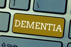 Άνοια κειμένων γραφής Έννοια που σημαίνει την εξασθένιση στην απώλεια μνήμης γνωστικής λειτουργούσας ασθένειας εγκεφάλου διανυσματική απεικόνιση