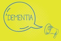 Άνοια κειμένων γραψίματος λέξης Επιχειρησιακή έννοια για την εξασθένιση στην απώλεια μνήμης γνωστικής λειτουργούσας ασθένειας εγκ διανυσματική απεικόνιση