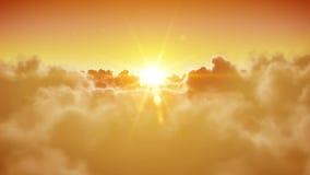 Άνοιγμα πορτών ουρανού Ο όμορφοι ήλιος και τα σύννεφα είναι loopable HD 1080