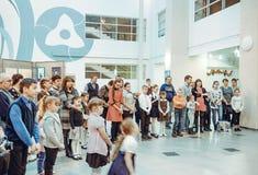 Άνοιγμα της έκθεσης των σχεδίων παιδιών ` s Στοκ εικόνα με δικαίωμα ελεύθερης χρήσης