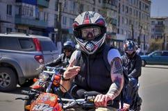 Άνοιγμα της εποχής μοτοσικλετών Στοκ Φωτογραφίες