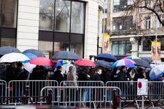 Άνοιγμα της Apple Store στη Λίλλη στοκ εικόνες