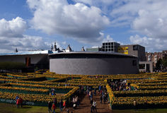 Άνοιγμα του νέου μουσείου του Βαν Γκογκ αιθουσών εισόδων Στοκ Εικόνες