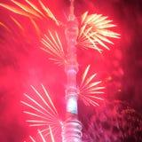 Άνοιγμα του φεστιβάλ «κύκλος της Μόσχας του φωτός» Στοκ Φωτογραφίες