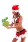 άνοιγμα δώρων Στοκ εικόνα με δικαίωμα ελεύθερης χρήσης